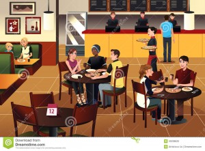 young-people-eating-pizza-together-restaurant-vector-illustration-40238620